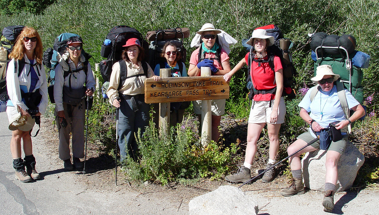 Gardiner Basin Trek companions, Diane, Linda, Carol, Dorie, Nancy, Liz. Cindy