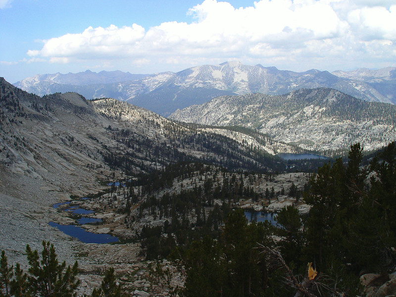 Looking back at  Gardiner Pass Trail