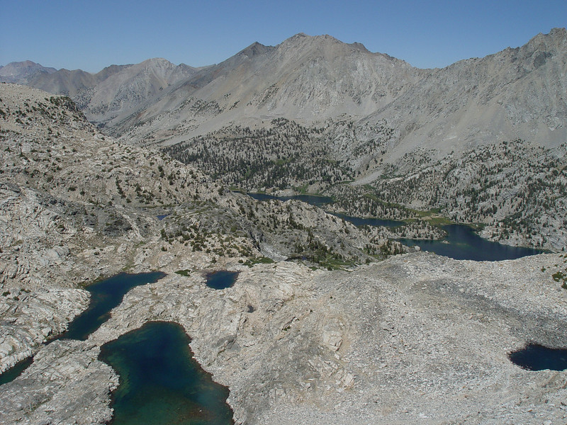 Rae Lakes from Glen Pass