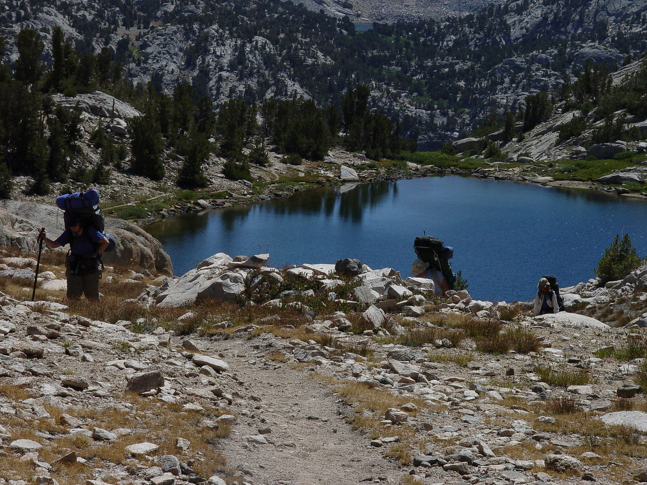 On the way to Sixty Lakes Basin