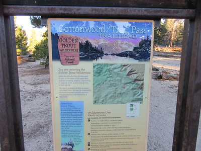 I started from Horseshoe Meadow at the Cottonwood Pass Trailhead (9,960'), proceeded ...
