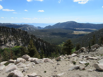... Cottonwood Pass (11,160') where I looked back down over Horseshoe Meadow.