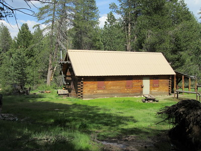 As I went into Grey Meadow, the Cow Camp cabin and ...