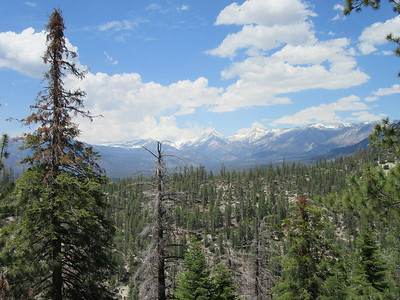 ... past views over the Little Kern River Valley and the Coyote Peaks area of the Great Western Divide before ...
