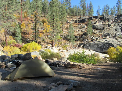 I camped the first night at Little Kern Bridge (5760') along ...