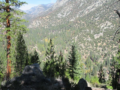 As I went down into Kern Canyon, there was this good view upstream (north) over the river, then soon ...