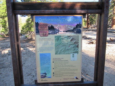 I left from the Trail Pass Trailhead at Horseshoe Meadow (9,960'), ...