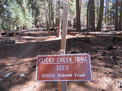 I started at the Clicks Creek Trailhead (7,840'), then soon saw ...
