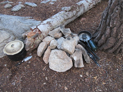 ... bundling much of it into the tent and rocking the bundle so that most animals cannot scatter it again.  Maybe in the Spring the Forest Service or a volunteer packer can get it out of there.