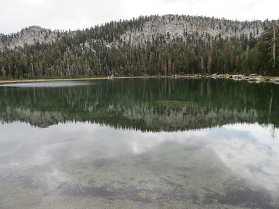 After some light rain, I hiked to upper Maggie Lake, then down to ...