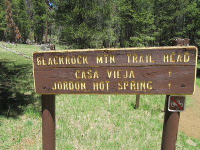 I started out in the afternoon at Blackrock Trailhead (8,969') and headed down for ...
