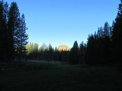 ... the main meadow the next morning as the sun rose, highlighting its namesake just a little distance down canyon.  I later took some videos, just in case anyone thinks Redrock Meadows is a place for ...