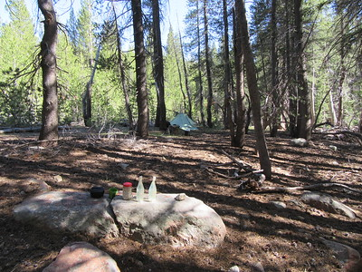 ... where I camped for two nights; lots of good camping areas up in the trees.