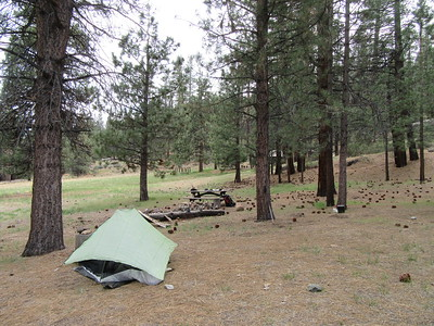 ... Trout Meadow (6160') where I camped for the night near ...