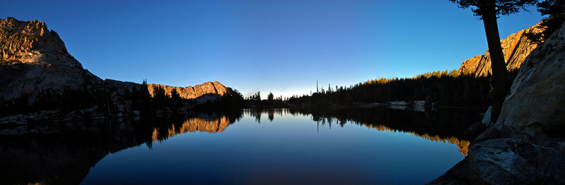 A panorama of Rodgers Lake early in the morning