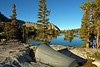 Rodgers Lake in the morning....my tent's view :-) not bad..
