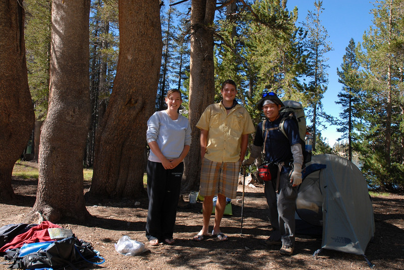 The only campers I met at Rodgers Lake, Alexis and Travis. They are very friendly and doing the Matterhorn-Kerrick Canyon Loop which I did about 4 years ago. I hope I can hike with them someday. Thanks for the campfire night guys. :-)