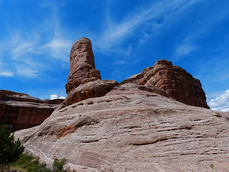A rock formation called The Thumb, is located just before Sheik's Canyon.