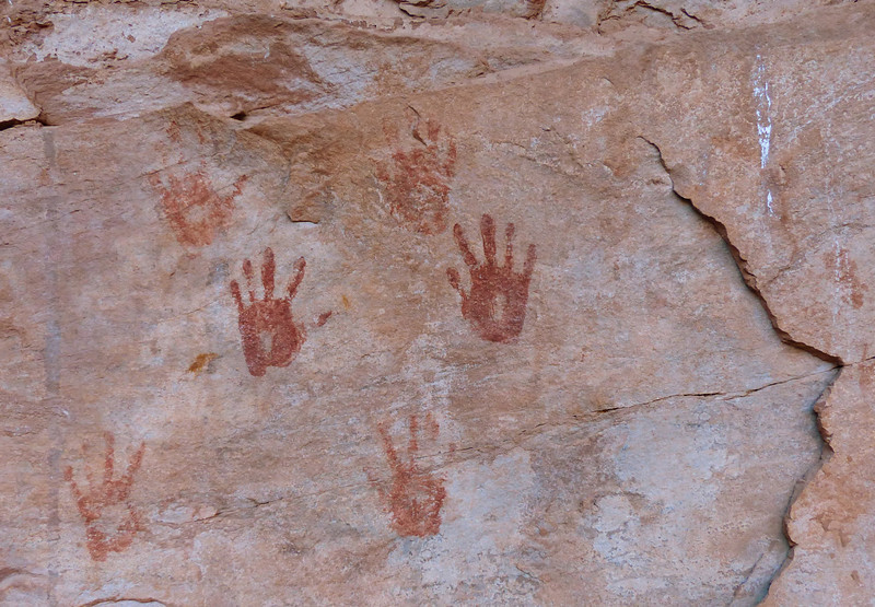 Pictographs at Junction Ruin.