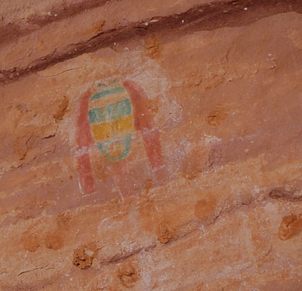 "Pictograph called the ""Green Mask"" at Sheik's Canyon."