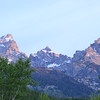 View of the Tetons from our cabin