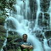 Scott in front of Mingo Falls
