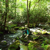 Dianne next to a tributary into Deep Creek