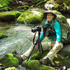 2014-05-24<br /> Dianne next to a tributary into Deep Creek
