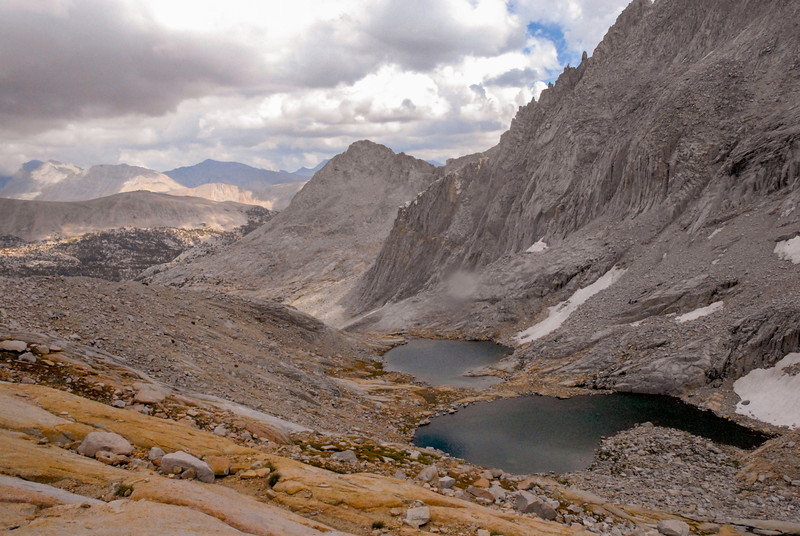This is the view descending from McLeod Pass.....still a looooong way to my next campsite.