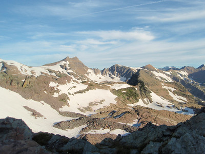 Lowary Peak on the Left and Three Summit Peak on the Right.