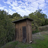 A very precarious- yet well ventilated- outhouse (now out of comission)