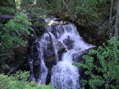 Small waterfall along the way.
