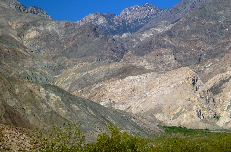 This photo is taken from where we parked below Hunter Canyon. Our descent route is on the left center of this photo.