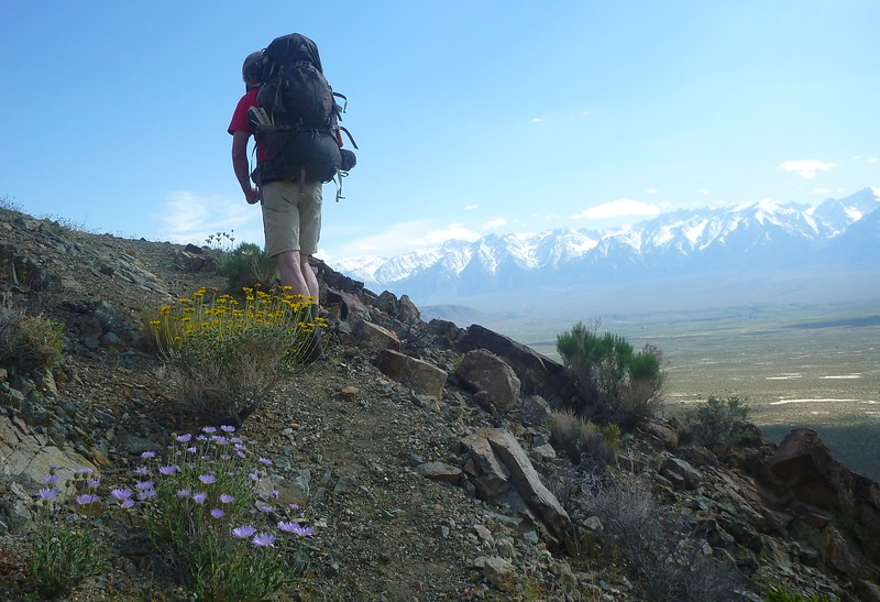 Day 1- There is an excellent trail on the first day. Great views of the Sierra to the West.