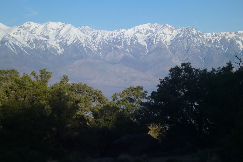 Day 2- Morning view of the Sierra from Dry Spring Camp. The spring has been dry for many years.