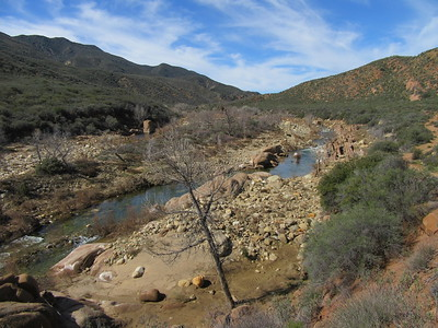 ... a stretch of the Sespe shortly before it flowed by Bear Creek.