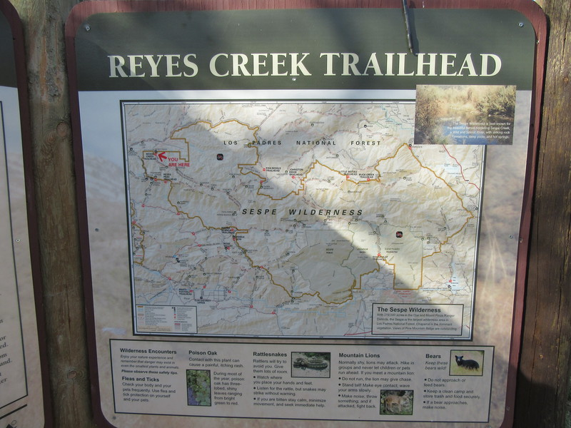 We started out from the Reyes Creek Trailhead (3950') to ...