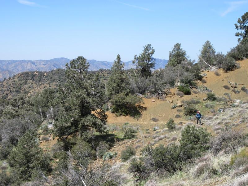 ... south along the ridge until ...