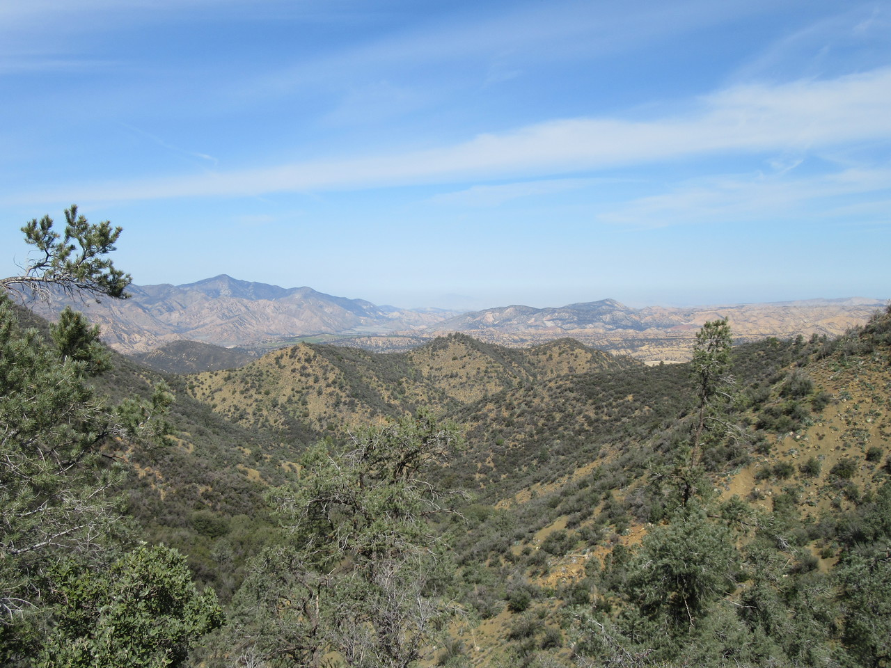 ... Bardley and I had this great view north over the Cuyama River basin and surrounding mountains, before ...
