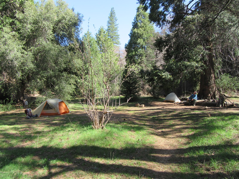 ... down to Beartrap Camp (5100') where ...