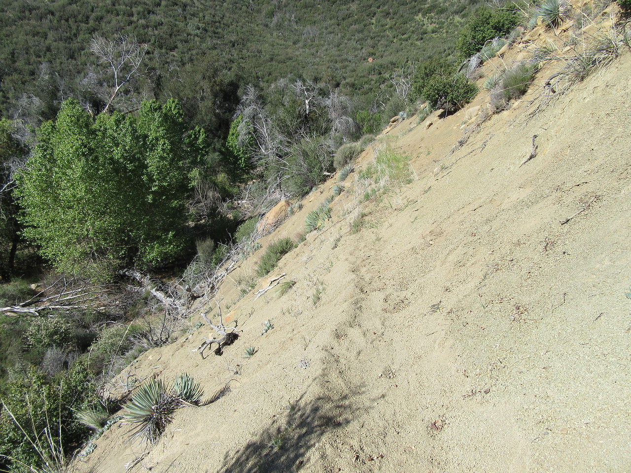 ... sometimes with a little trail slippage, ...
