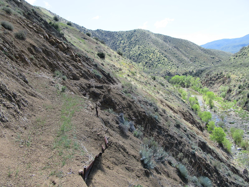 Then it was back up to another high section of trail, with ...