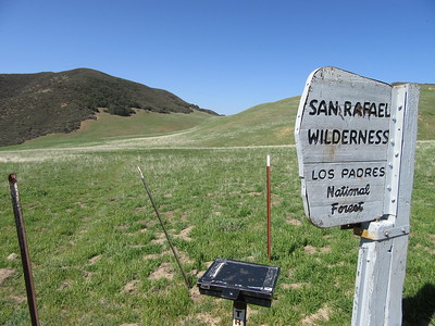 We started from the Jackson Trail Trailhead (4636'), just off the Sierra Madre Road, and headed across range land ...