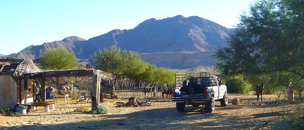 The following morning we reached Rancho Matomi and were surprised to find ranchers living there permanently.