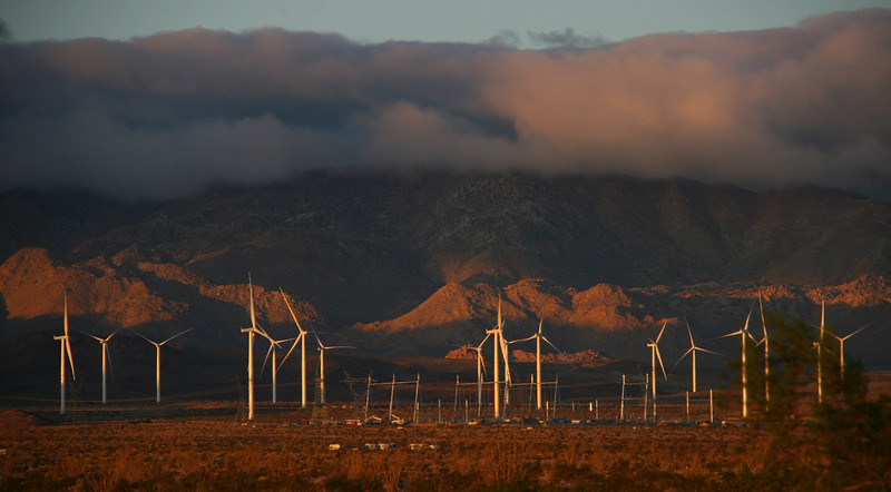 Wind turbines near Ocotillo