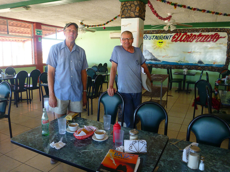 After meeting Mark Adrian in Calexico, we drove to near San Felipe where we had lunch at a fine restaurant called El Colorado. It was located near the first road that headed West toward Valley Chico.