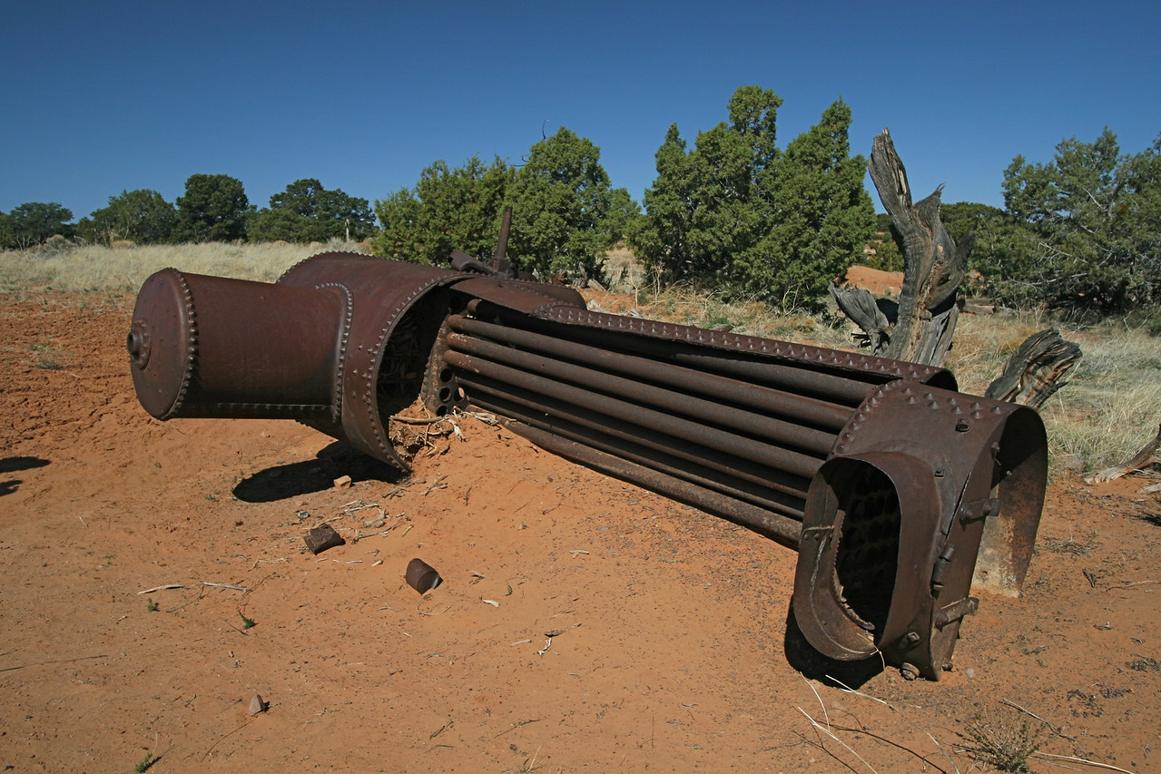 An old boiler near French Spring.