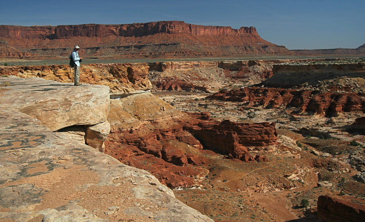 The following day, we drive toward Ekker Butte. But we stop at viewpoints above Horse Canyon
