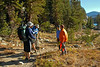 Two gals inquiring about the trail to Minaret Lake....they are doing the reversed direction.