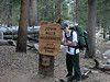John Muir Wilderness Sign<br /> Trevor holding up the sign!